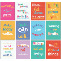 Growth Mindset Quotes Poster Set