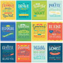 Positive Character Traits Poster Set