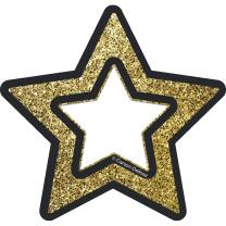 Gold Glitter Stars Mini Accents