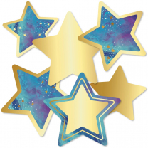 Golden Stars Accent Cards