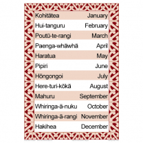 Months of the Year Bilingual Chart