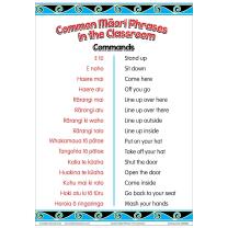 Common Maori Classroom Phrases Charts