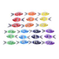 Rainbow Gel Number Fish - Pack of 21