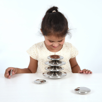 Sensory Reflective Silver Buttons - Pack of 7