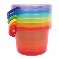 Translucent Colour Bucket Set - Pack of 6