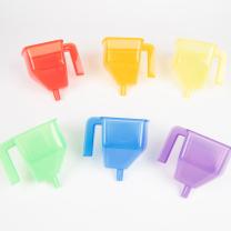 Translucent Colour Funnels - Pack of 6