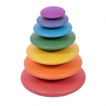 Rainbow Wooden Buttons - Pack of 7