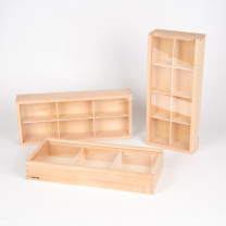 Wooden Discovery Boxes - Pack of 3