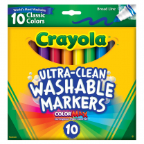 Crayola Ultra-Clean Washable Markers - Pack of 10