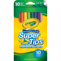 Crayola Super Tips Washable Markers - Pack of 10
