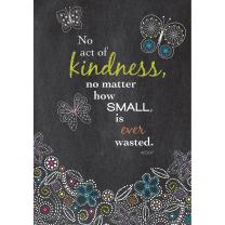 Kindness Chalkdboard Butterflies Poster