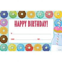 Happy Birthday! Donut Certificates