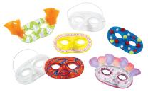 Plastic Half Masks - Pack of 24