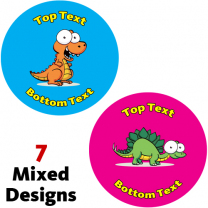 Googley Dinos Personalised Stickers