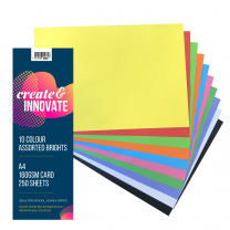 Paper A4 10 Bright Colours 160gsm - Pack of 250