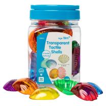 Transparent Tactile Shells - Pack of 36