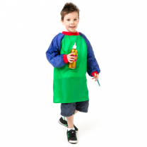 Junior Artist Smock - Green and Blue