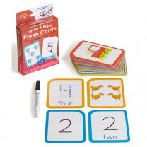 Numbers 0 to 30 Write & Wipe Flash Cards