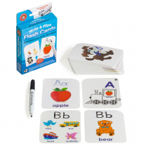 Alphabet and Early Numbers Write & Wipe Flash Cards