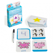 Colours Shapes & Numbers Write & Wipe Flash Cards