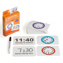 Telling Time Write & Wipe Flash Cards