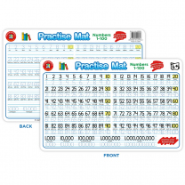 Practise Mat - Numbers 1-100