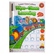 Lowercase Letters Wipe-Clean Activity Book