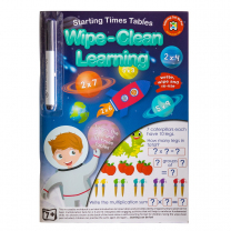 Starting Times Tables Wipe-Clean Activity Book