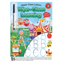 Uppercase Letters Wipe-Clean Activity Book