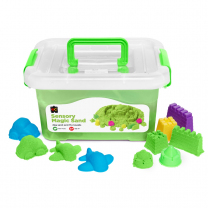 Green Sensory Sand with Moulds - 2kg