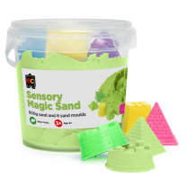 Sensory Sand with Moulds - Green