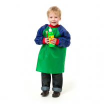 Toddler Smock - Green and Blue