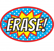 Erase! Superhero Whiteboard Eraser