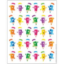 Pencil Smiley Faces Reward Stickers