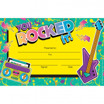 You Rocked it! Certificates