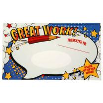 Super Class Great Work Scratch Off Award