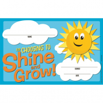 Shine and Grow Certificates