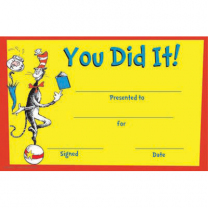 You Did it! Dr Seuss Awards