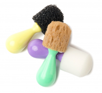 Easy-Grip Texture Brushes - Set of 3