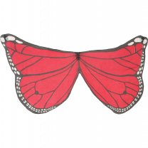 Red Printed Butterfly Wings