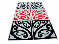 Mangopare Maori Design Mat - Red White & Black
