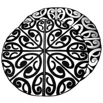 Korero Maori Design Mat - Black & White
