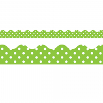 Lime Polka Dots Trimmers