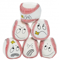 Goofy Face Kick Balls - Pack of 6