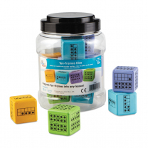 Ten-Frame Foam Dice - Pack of 12