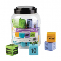 Multiple Representation Foam Dice - Pack of 16