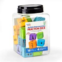 Multiple Representation Fraction Foam Dice - Pack of 16