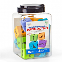Multiple Representation Equivalency Foam Dice - Pack of 16