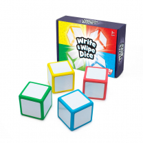 Magnetic Write and Wipe Dice - Pack of 4