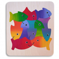 Ten Fish Wooden Puzzle